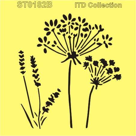 sablon-flexibil-lavanda-papadie-16x16cm-itd-collection-st0182b 0