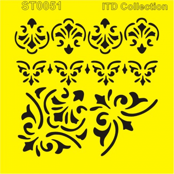 sablon-flexibil-ornamente-16x16cm-itd-collection-st0051b 0