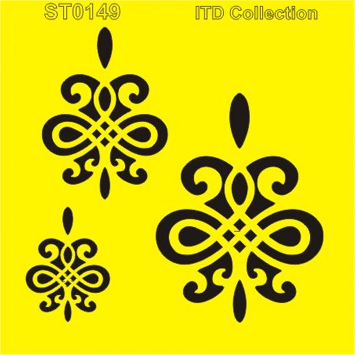 sablon-flexibil-ornamente-16x16cm-itd-collection-st0149a 0