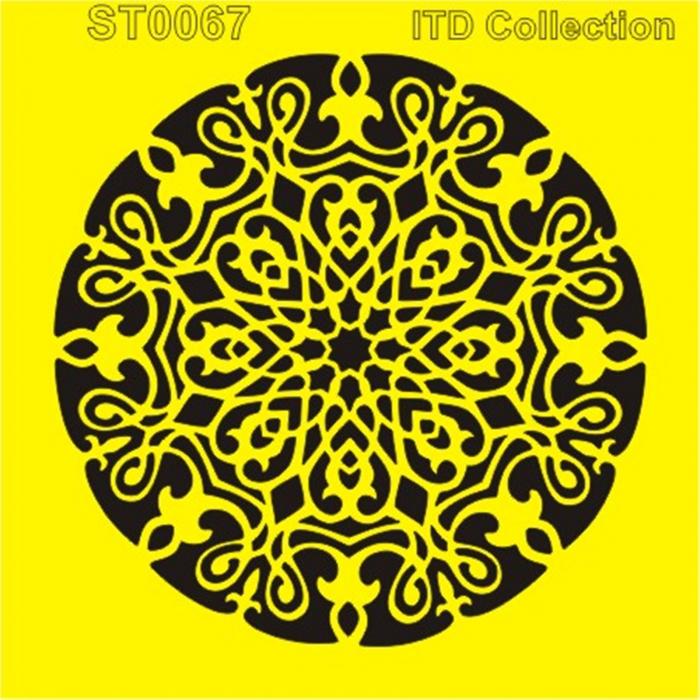 sablon-flexibil-mandala-16x16cm-itd-collection-st0067b 0