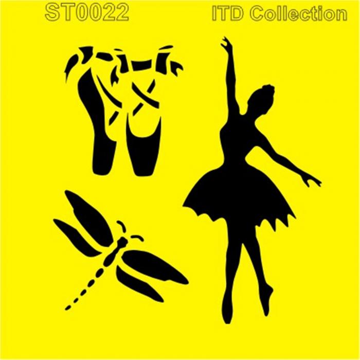 sablon-flexibil-balet-16x16cm-itd-collection-st0022a 0