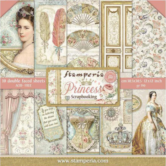 album-scrapbooking-princess-sbbl75-stamperia 0