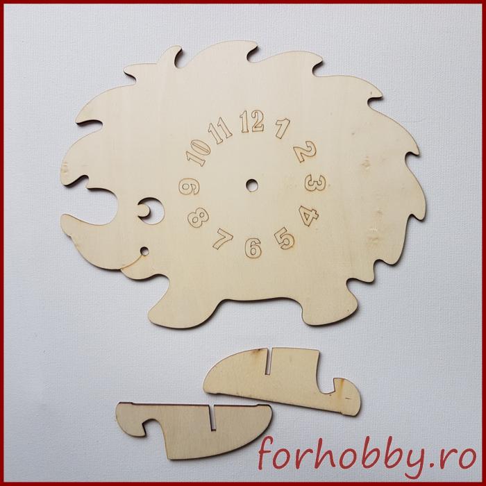 Cadran ceas lemn - Arici 0