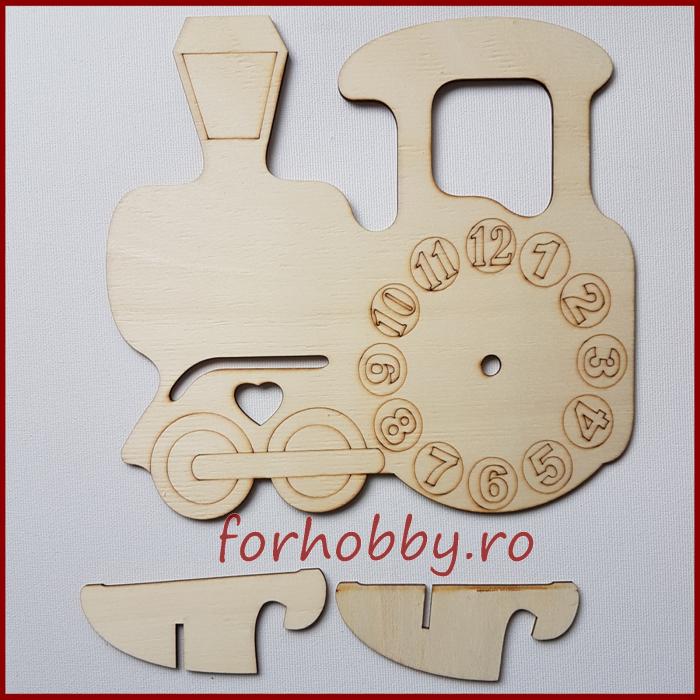 Cadran ceas lemn - Locomotiva 0