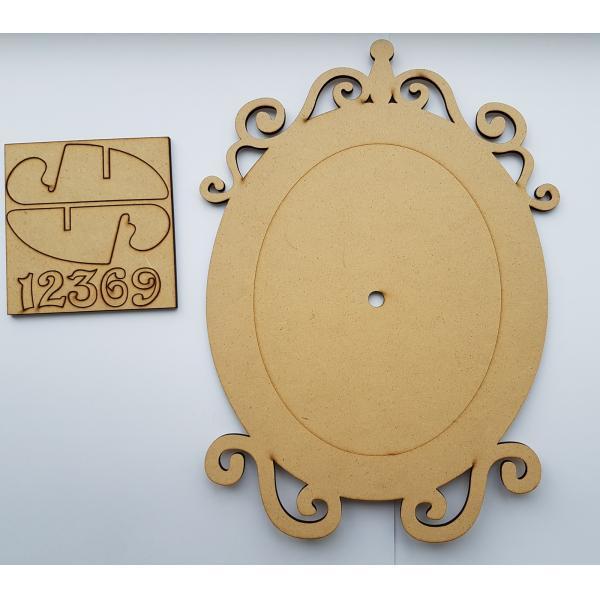 Cadran ceas oval din mdf 0