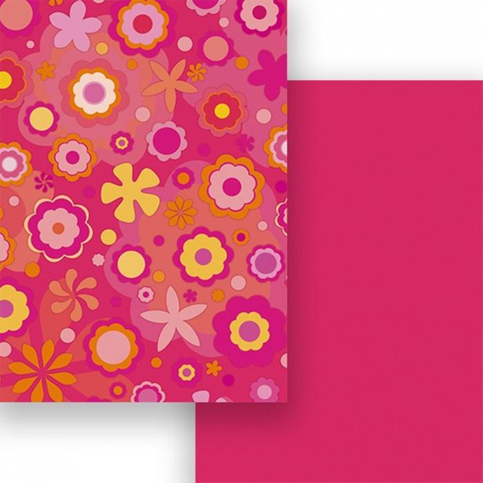 Carton colorat cu 2 fete A4 Marpa Jansen - Flori 0