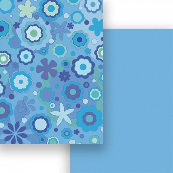 Carton colorat cu 2 fete A4 Marpa Jansen - Flori