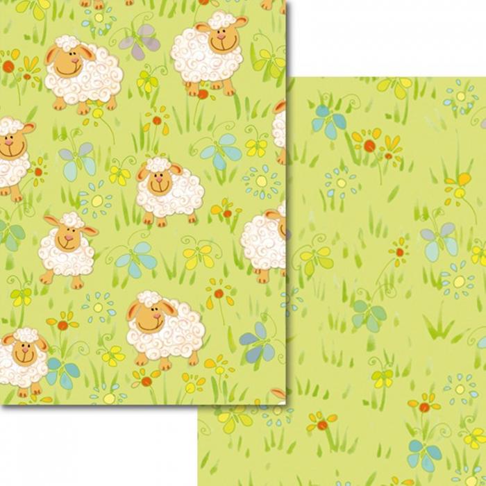 Carton colorat cu 2 fete A4 Marpa Jansen - Oite pe camp 0