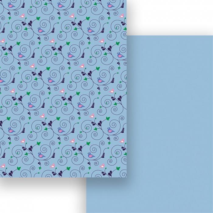 Carton colorat cu 2 fete A4 Marpa Jansen - Pasari