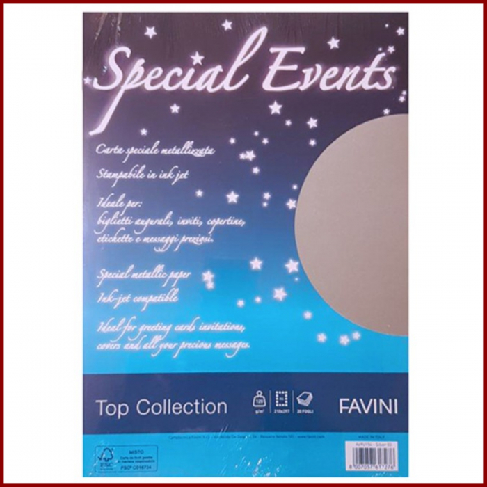 Carton metalizat A4 250 g - Aur/Argint -Special Events 2