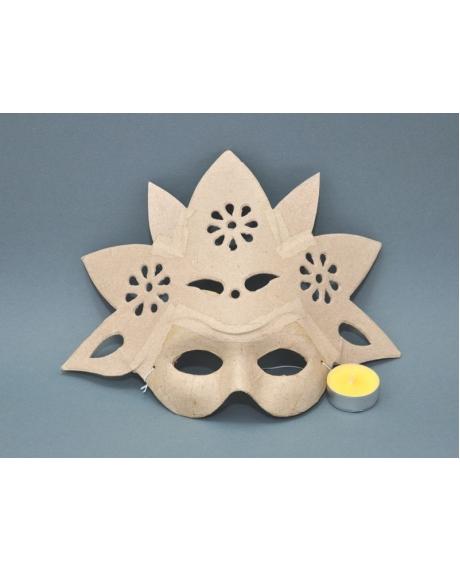 Masca venetiana din carton presat floare 0