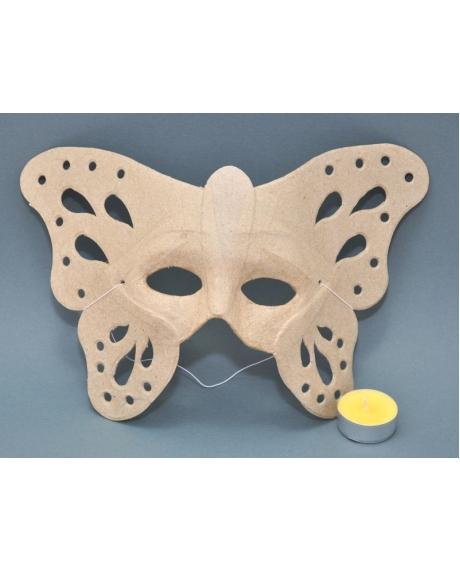 Masca venetiana din carton presat fluture 0
