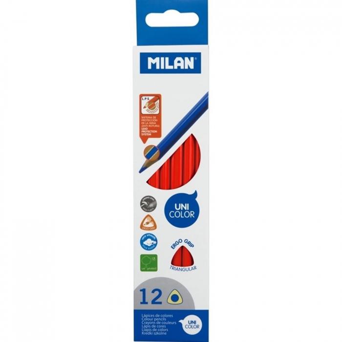 Creioane color unicolor Milan - Rosu 0