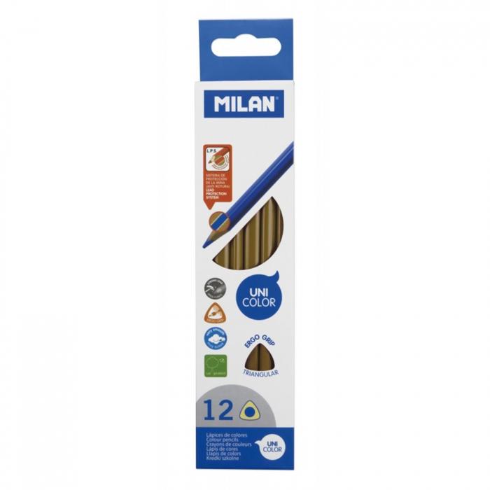 Creioane color unicolor Milan - Maro 0