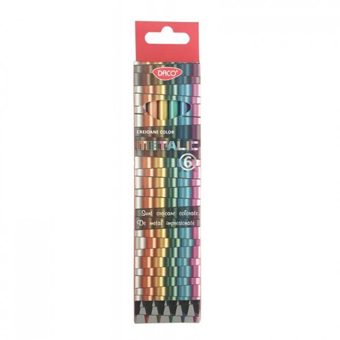 Creion color metalizat 6 culori 0