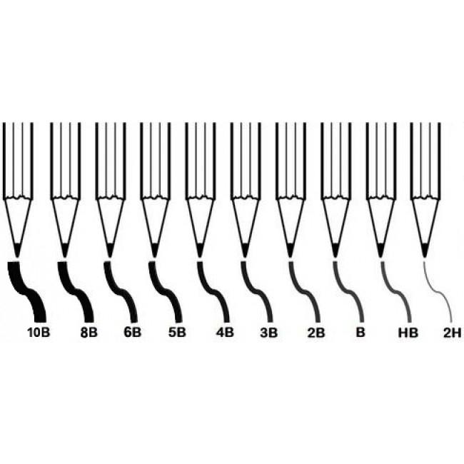 Creion grafit negru 2H -10B 1