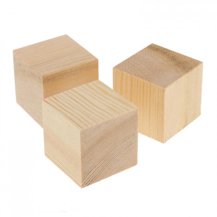 Pătrățele lemn 1,5 x 1,5 cm 1