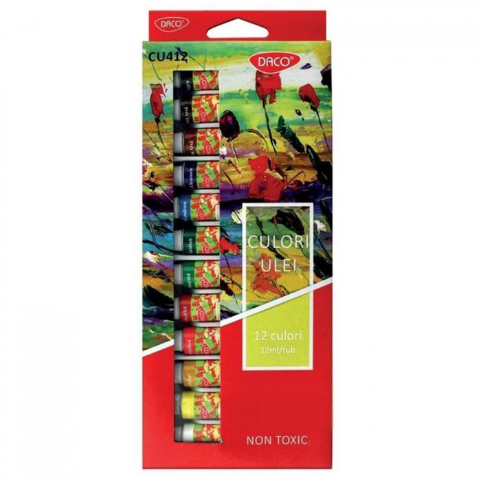 Set 10 culori ulei pt artisti Daco 3