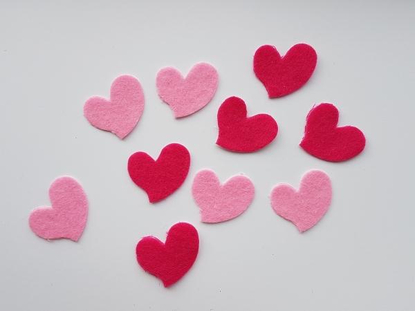 Figurine din fetru - inimioare 0