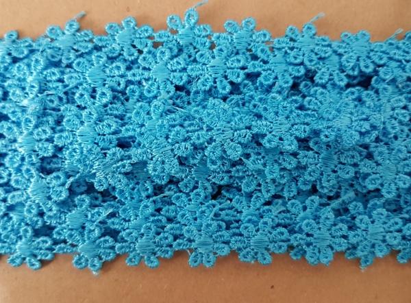 Dantela floricele bleu 8.5m 0