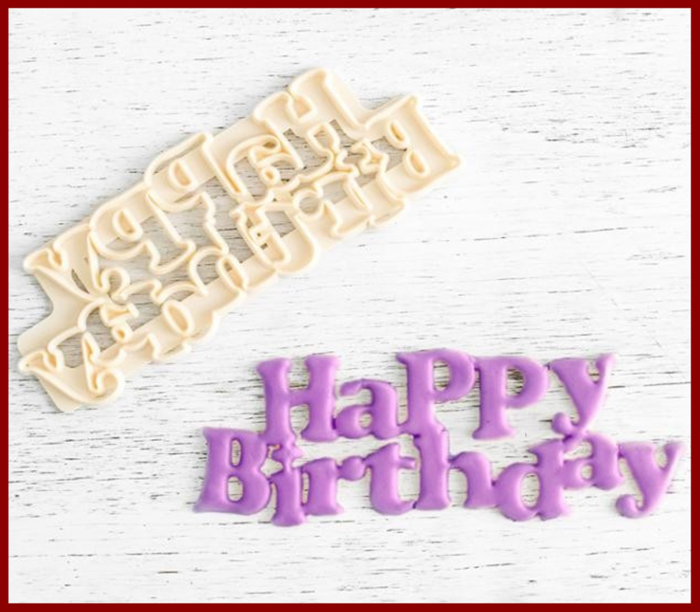Decupator simplu cuvinte - Happy Birthday 1