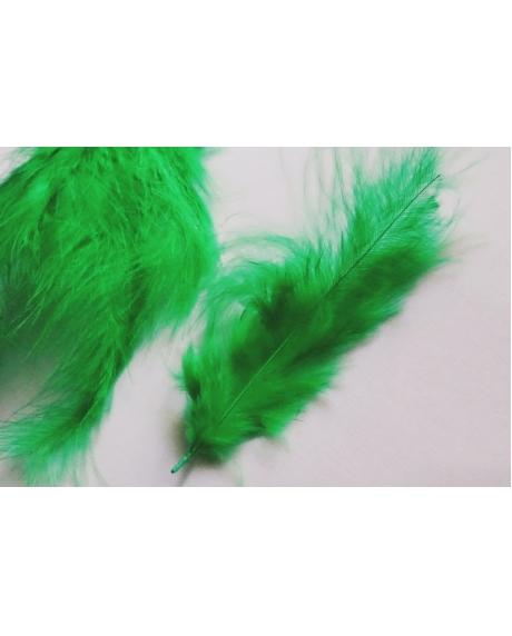 Pene decor verde (100 buc)