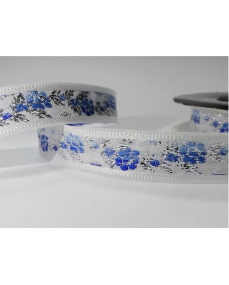 Panglica decor,floricele albastre 0