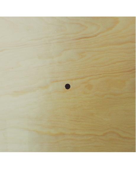 Cadran ceas din lemn patrat 0