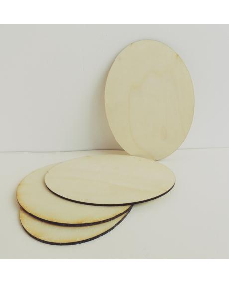 Suport, placuta lemn oval 0