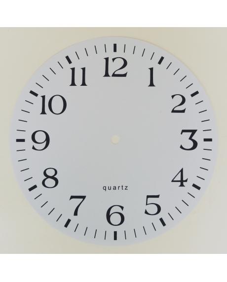 Cadran pentru ceas din plastic 22 cm diam.