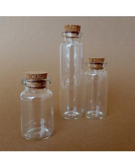 Sticluta cu dop de pluta  2.2x5 cm 0