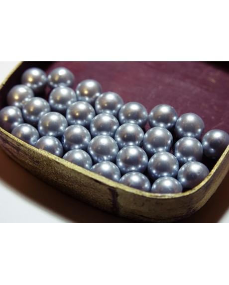 Perle 8 mm (30 buc/set) argintiu 0