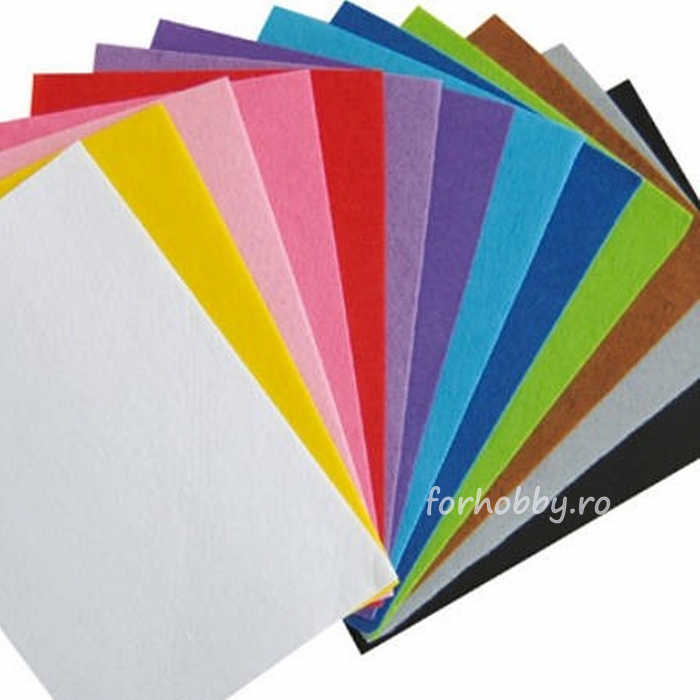 Fetru apretat 2 mm grosime 20 x 30 cm - Diverse culori 0