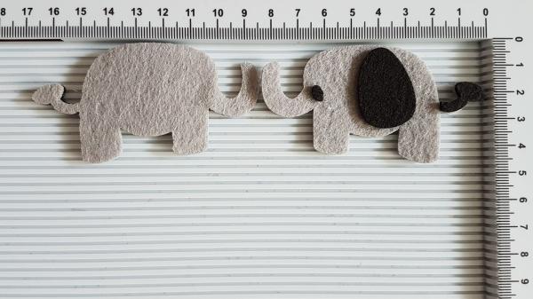 Figurina din fetru - elefant 0