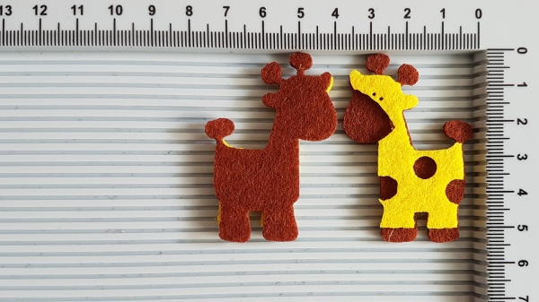 Figurina din fetru - girafa 0