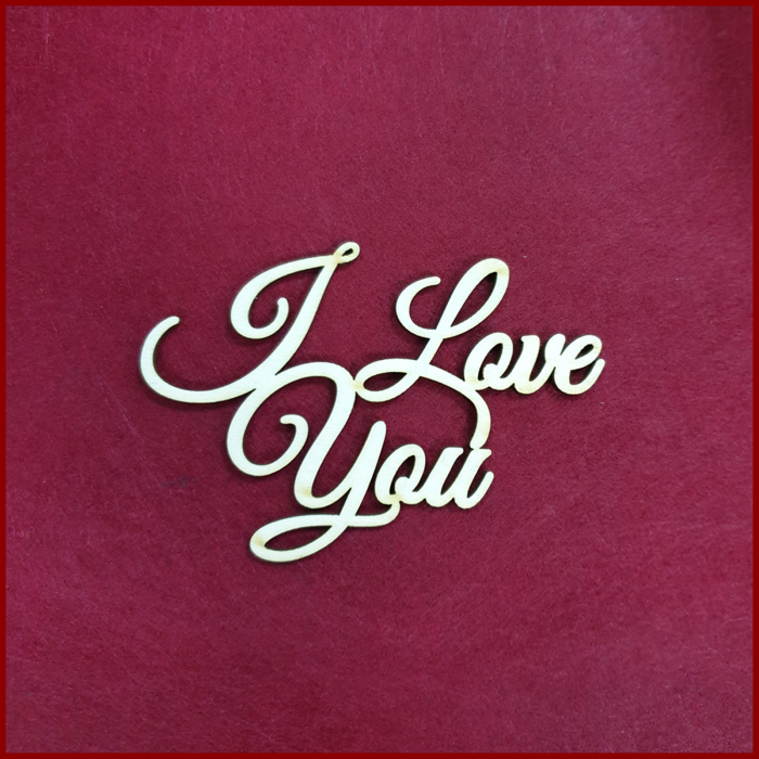Figurina din lemn - I love You 0