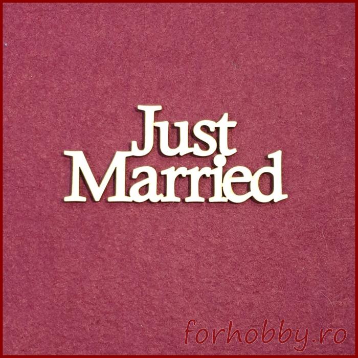 Figurina din lemn - Just Married 0
