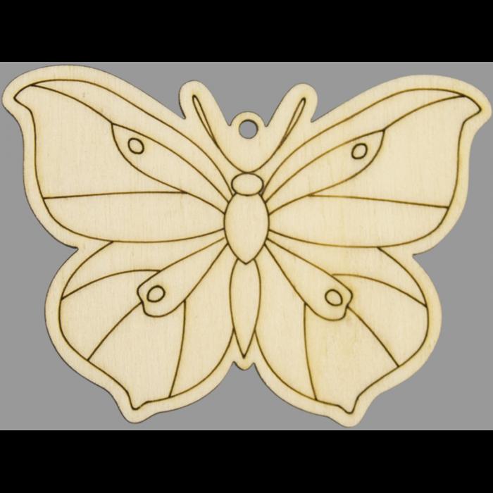 Figurina din lemn - Fluture 0