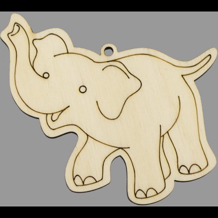 Figurina din lemn - Elefant 0