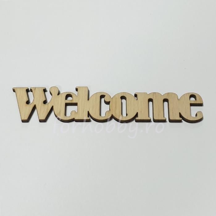 Figurina din lemn - Welcome 0