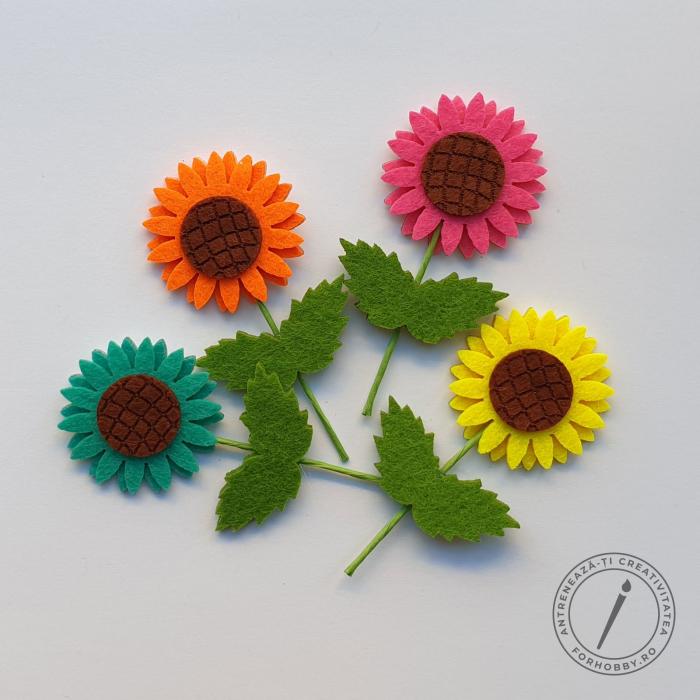 figurine-din-fetru-autoadezive-floarea-soarelui 0