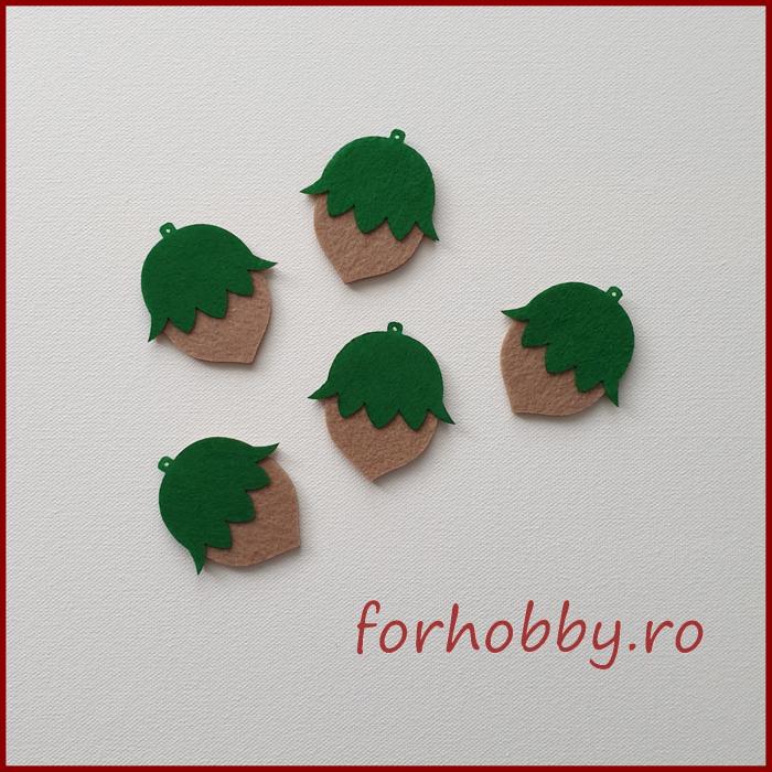 Figurine din fetru in forma de frunza 0