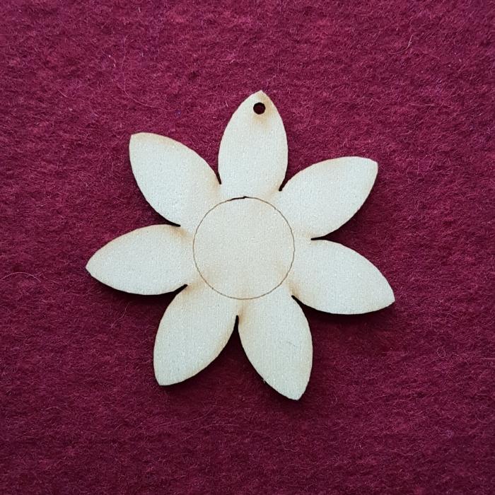 Figurina din lemn - Floare 0