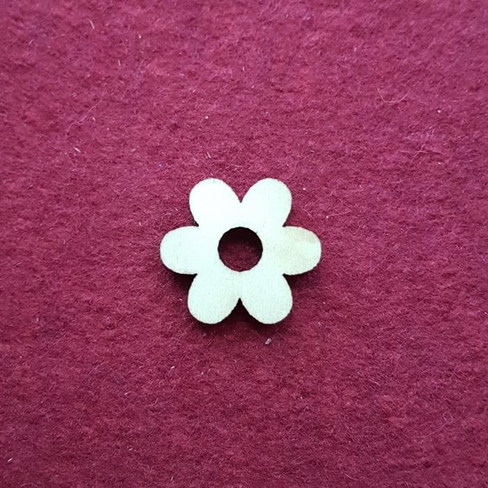Figurina din lemn - Floare mica 0
