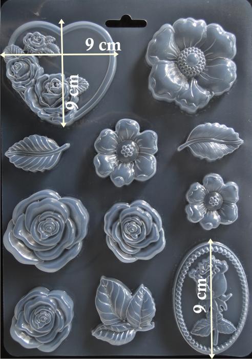 Matrita pentru turnat - Trandafiri 1