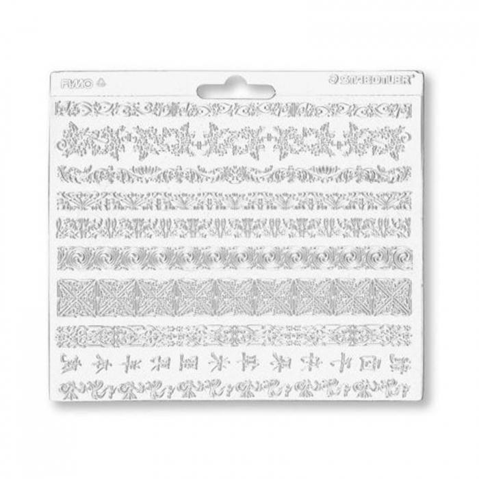 Foaie texturata FIMO - Borduri decorative 1