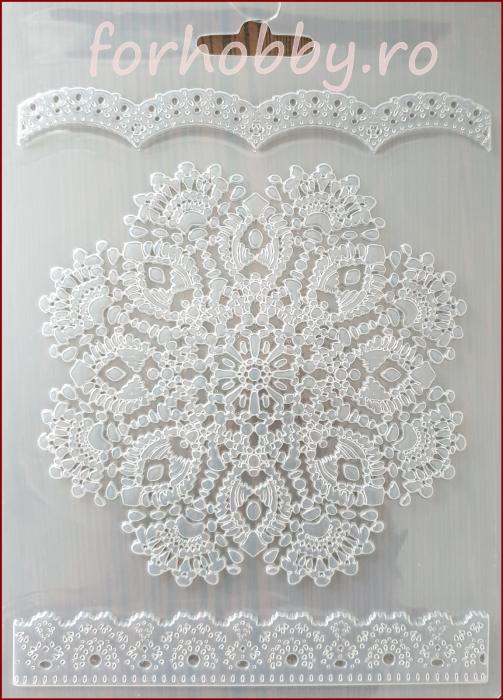 Foaie texturata Stamperia - Dantela rotunda 0