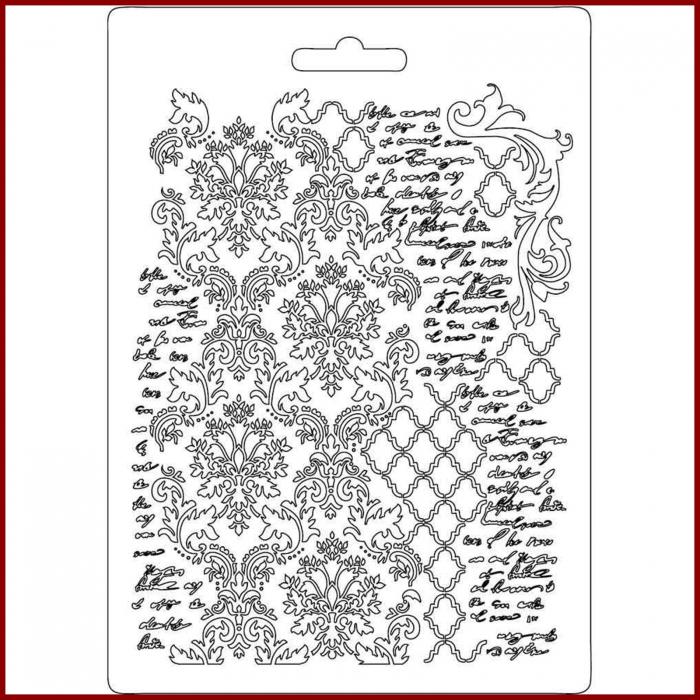 foaie-texturata-stamperia-k3pta503-manuscris 0