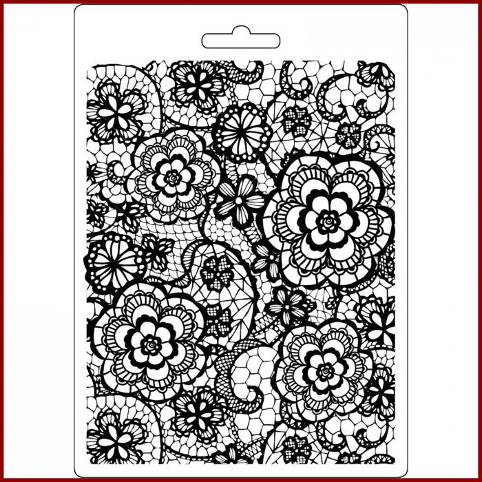 foaie-texturata-stamperia-k3pta547-model-floral 0