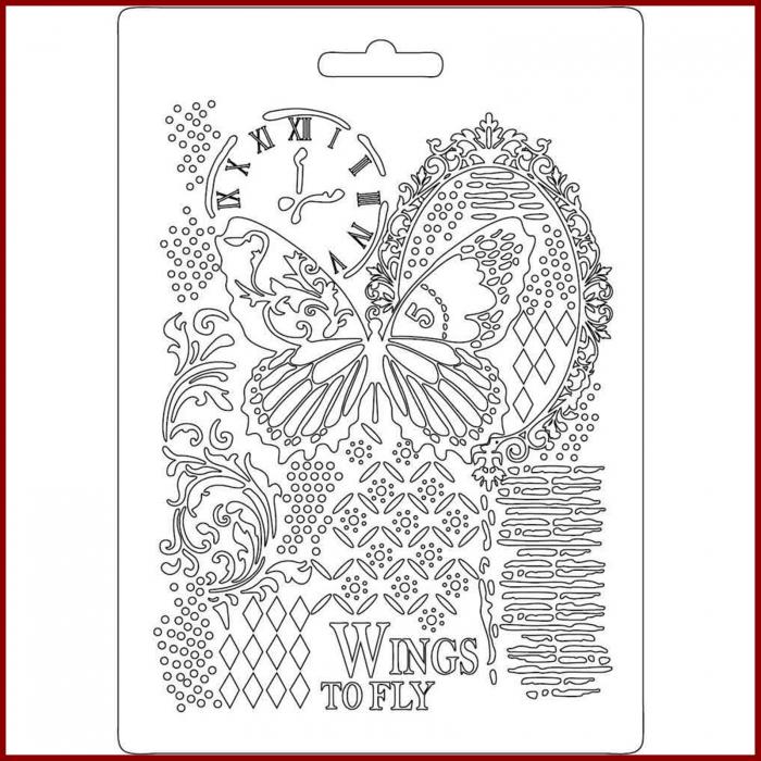 foaie-texturata-stamperia-k3pta510-fluture 0
